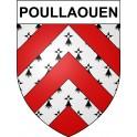 Poullaouen 29 ville Stickers blason autocollant adhésif