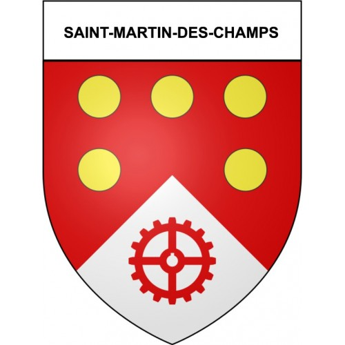 Stickers coat of arms Saint-Martin-des-Champs adhesive sticker