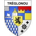 Stickers coat of arms Tréglonou adhesive sticker