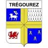 Stickers coat of arms Trégourez adhesive sticker