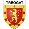 Stickers coat of arms Tréogat adhesive sticker