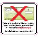 Sticker cheques which are dishonoured sticker adhesive