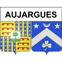 Stickers coat of arms Aujargues adhesive sticker