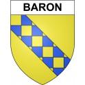 Baron 30 ville sticker blason écusson autocollant adhésif
