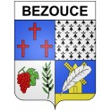 Stickers coat of arms Bezouce adhesive sticker