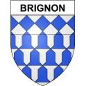 Brignon 30 ville Stickers blason autocollant adhésif