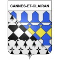 Stickers coat of arms Cannes-et-Clairan adhesive sticker