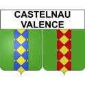 Castelnau-Valence 30 ville Stickers blason autocollant adhésif