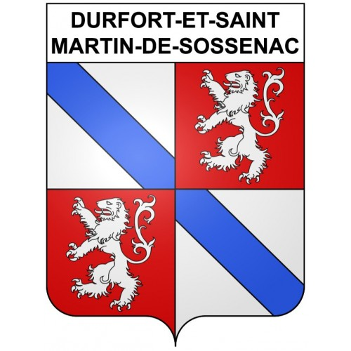 Stickers coat of arms Durfort-et-Saint-Martin-de-Sossenac adhesive sticker