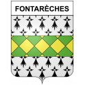 Stickers coat of arms Fontarèches adhesive sticker