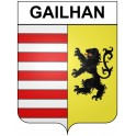 Stickers coat of arms Gailhan adhesive sticker