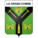 Stickers coat of arms La Grand-Combe adhesive sticker