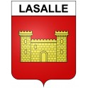 Stickers coat of arms Lasalle adhesive sticker