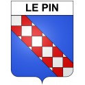 Stickers coat of arms Le Pin adhesive sticker