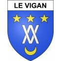 Stickers coat of arms Le Vigan adhesive sticker