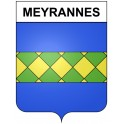 Stickers coat of arms Meyrannes adhesive sticker