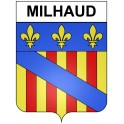 Stickers coat of arms Milhaud adhesive sticker