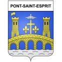Pont-Saint-Esprit 30 ville Stickers blason autocollant adhésif