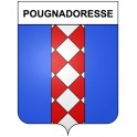 Stickers coat of arms Pougnadoresse adhesive sticker