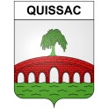 Stickers coat of arms Quissac adhesive sticker