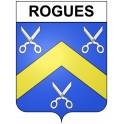 Rogues 30 ville Stickers blason autocollant adhésif