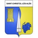 Stickers coat of arms Saint-Christol-lès-Alès adhesive sticker