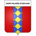 Stickers coat of arms Saint-Hilaire-d'Ozilhan adhesive sticker