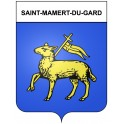 Stickers coat of arms Saint-Mamert-du-Gard adhesive sticker