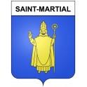 Saint-Martial 30 ville Stickers blason autocollant adhésif
