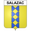 Stickers coat of arms Salazac adhesive sticker