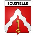 Stickers coat of arms Soustelle adhesive sticker