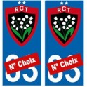 83 RCT toulon rugby two 2-star sticker plate