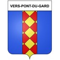 Stickers coat of arms Vers-Pont-du-Gard adhesive sticker