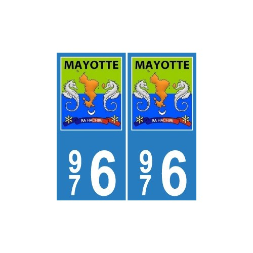 976 mayotte blason sticker autocollant plaque. Black Bedroom Furniture Sets. Home Design Ideas