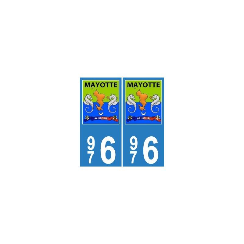 976 mayotte blason sticker autocollant plaque immatriculation d partement blason armoiries. Black Bedroom Furniture Sets. Home Design Ideas