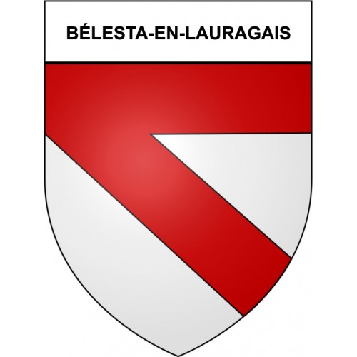 Bélesta-en-Lauragais 31 ville Stickers blason autocollant adhésif