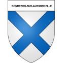 Stickers coat of arms Bonrepos-sur-Aussonnelle adhesive sticker