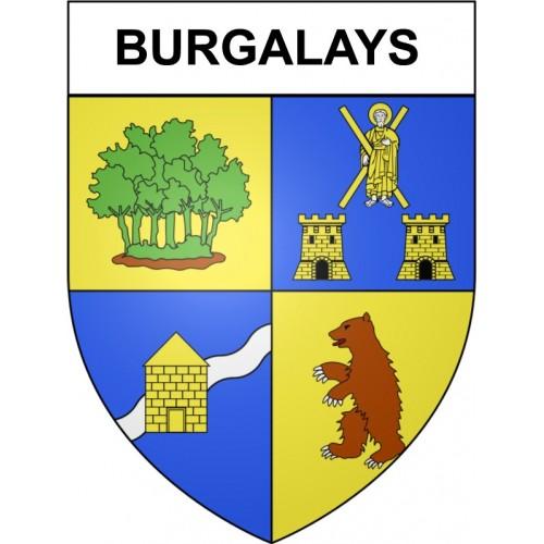 Burgalays 31 ville Stickers blason autocollant adhésif