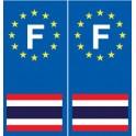 F Europe Thaïlande autocollant plaque