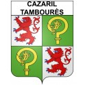 Stickers coat of arms Cazaril-Tambourès adhesive sticker