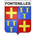 Stickers coat of arms Fontenilles adhesive sticker