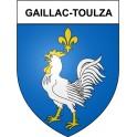 Gaillac-Toulza 31 ville Stickers blason autocollant adhésif