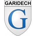 Stickers coat of arms Garidech adhesive sticker