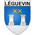 Stickers coat of arms Léguevin adhesive sticker
