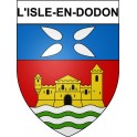Stickers coat of arms L'Isle-en-Dodon adhesive sticker