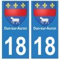 18 Dun-sur-Auron autocollant plaque