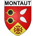 Stickers coat of arms Montaut adhesive sticker