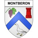 Stickers coat of arms Montberon adhesive sticker