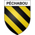 Stickers coat of arms Péchabou adhesive sticker