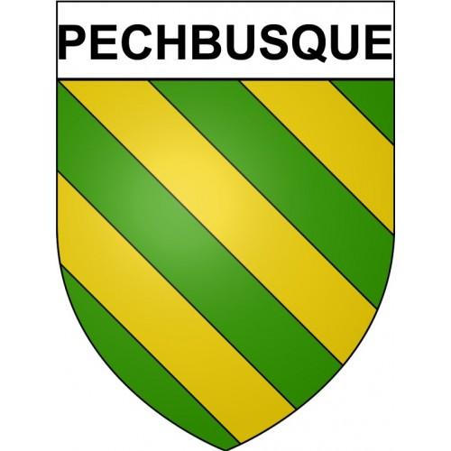 Pechbusque 31 ville Stickers blason autocollant adhésif